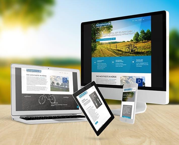 Responsive Webdesign Radwegekonzepte
