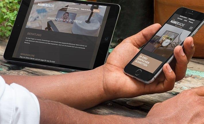 Maennersache Responsive Webdesign Werbeagentur Osnabrück