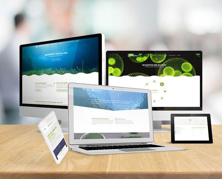 Responsive Webdesign Microganic