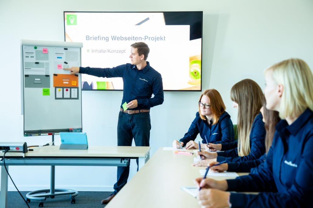 Fotografie Meeting Strukturerarbeitung Motion Media Werbeagentur