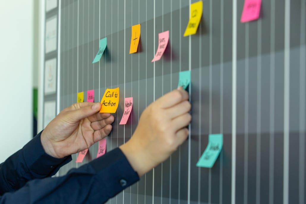 Fotografie Post-its Call to Action Planung Werbeagentur Osnabrück