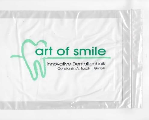 art of smile Dentalbeutel Druck Werbeagentur Osnabrück