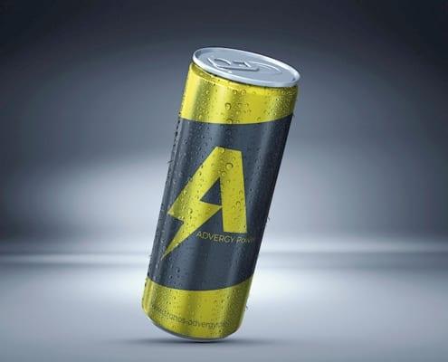 Getränkedose mit Energydrink Advergy