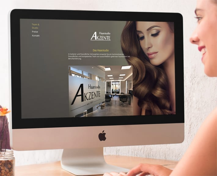 Webdesign Haarstudio Akzente