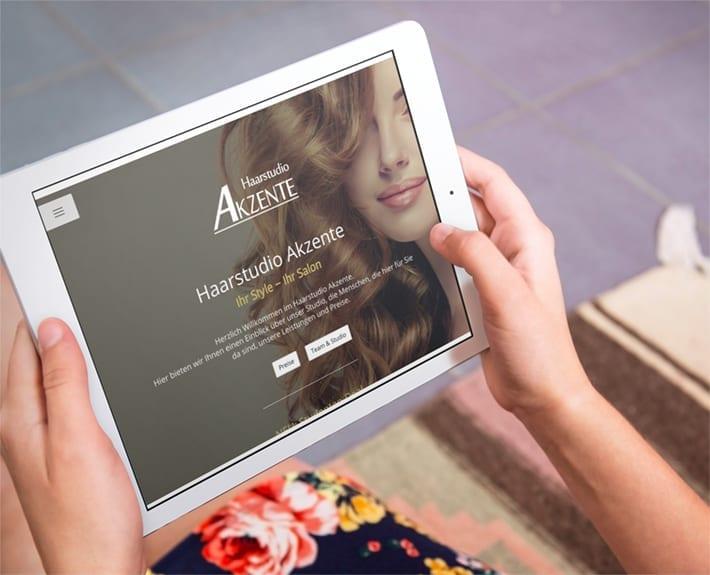 Responsive Webdesign Haarstudio Akzente