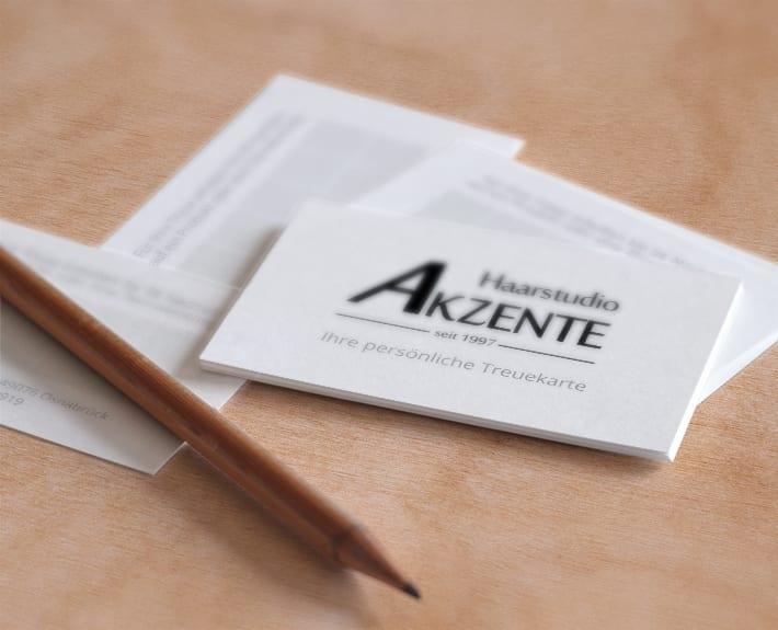 Haarstudio Akzente Treuekarten Agentur Osnabrück