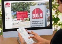 Baugenossenschaft Niederberg Responsive Webdesign