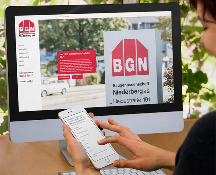 Responsive Webdesign Baugenossenschaft Niederberg
