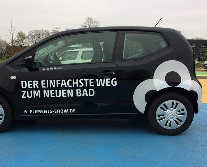 Fahrzeugbeschriftung Cordes Elements Show VW
