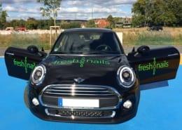 Fahrzeugbeschriftung Freshnails Osnabrück Mini
