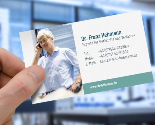 Dr. Hehmann NEMP CD Corporate Design Visitenkarte Osnabrück
