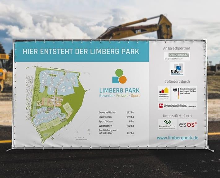 Werbetechnik Baustellenbanner Limberg Park alte Kasernen Osnabrück