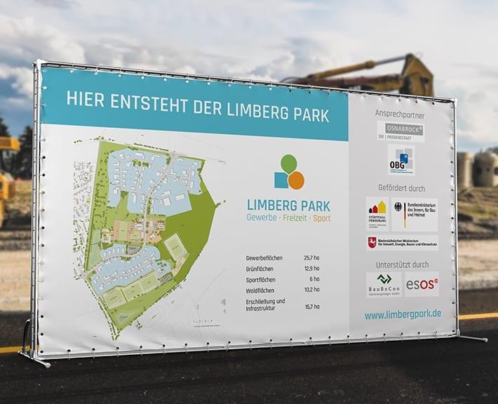 Werbetechnik Baustellenbanner Limberg Park