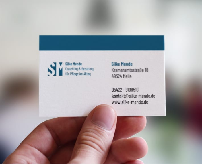 Silke Mende CD Visitenkarten gestalten Werbeagentur Osnabrück