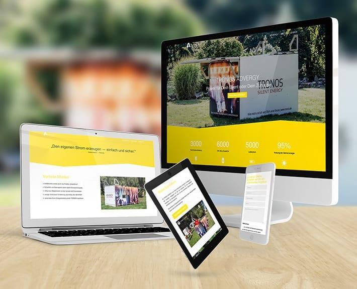 Responsive Webdesign Mobile Energie TRONOS