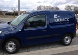 Kieback Fahrzeugbeschriftung gestalten Osnabrück