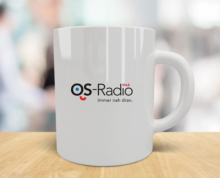 OS-Radio Logo Tasse Corporate Design Werbeagentur Osnabrück