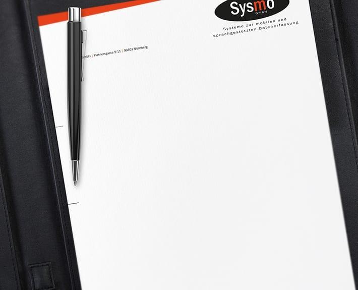 Geschäftsausstattung Briefpapier Sysmo
