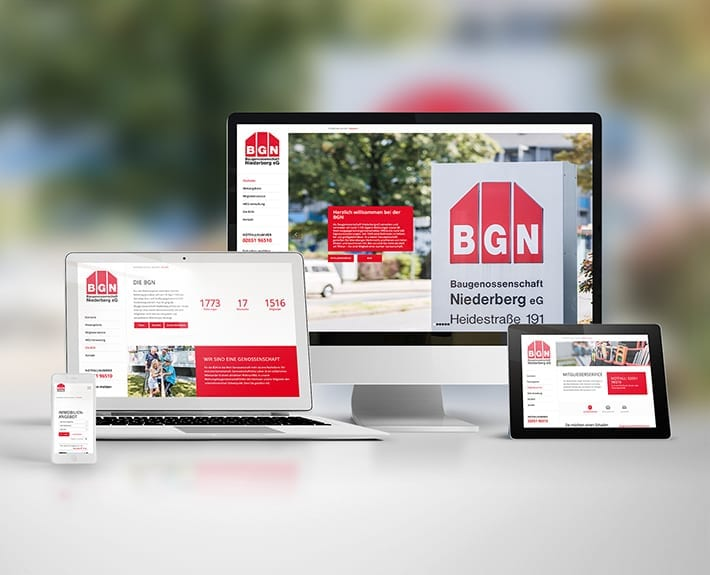 Baugenossenschaft in NRW - Motion Media Webdesign Osnabrück
