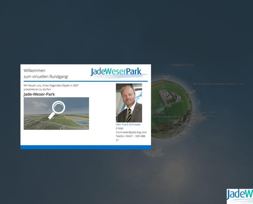 Jade-Weser Park Virtuelle Tour 360 Willkommensdialog