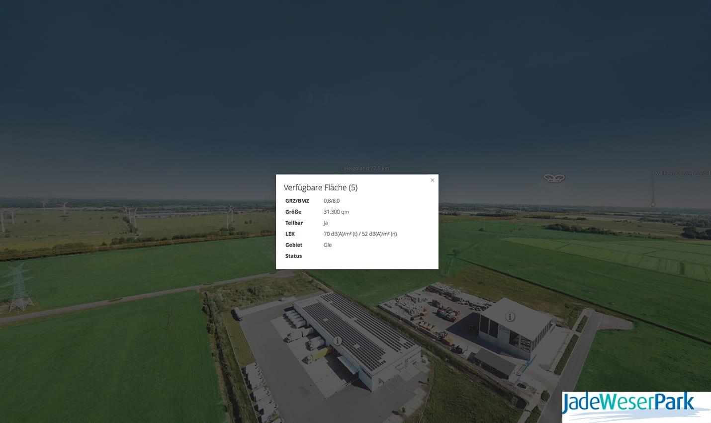 Jade-Weser Park Virtuelle Tour 360 Info-Hotspot