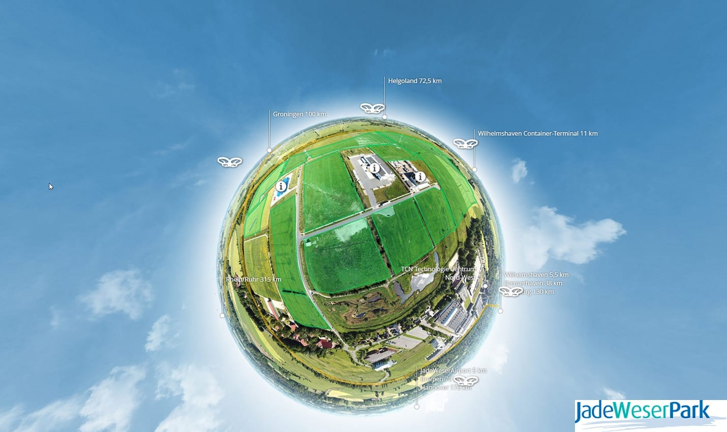 Jade-Weser Park Virtuelle Tour Tiny Planet 360 Werbeagentur