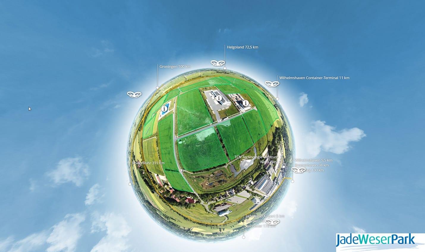 Virtuelle Tour Jade-Weser Park Tiny Planet 360 Werbeagentur