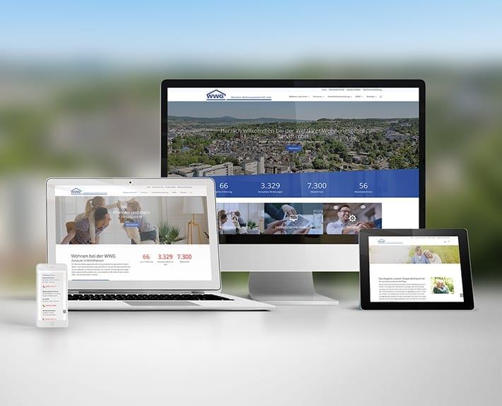 Webseite Responsive Webdesign WWG