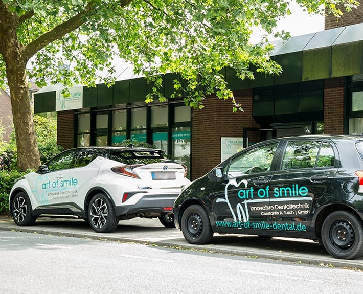 Fahrzeugbeschriftung art of smile