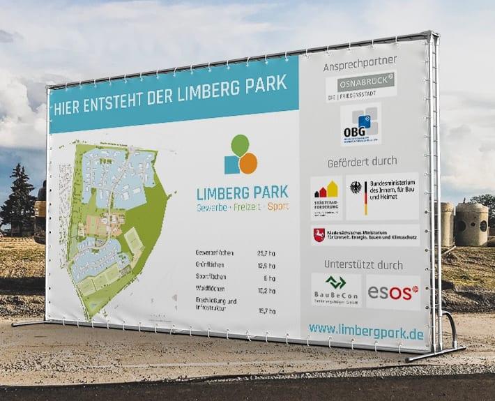 Baustellenbanner Limberg Park Osnabrück