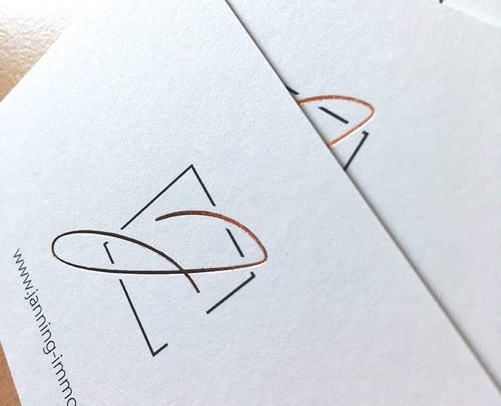 Visitenkarten Logo Janning Immobilien