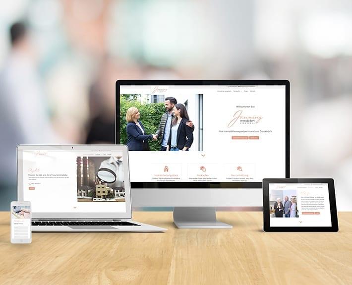 Webseite Responsive Design Jannning immobilien