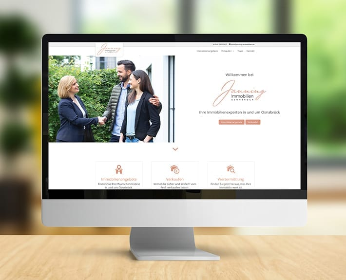 Webseite Homepage Jannning immobilien