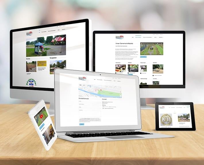 responsive Webdesign Gemeinschaftsplatz Ruestersiel e.V.