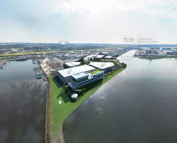 360° Tour Allerkai 4 Bremen 3D-Innenansicht Bürogebäude