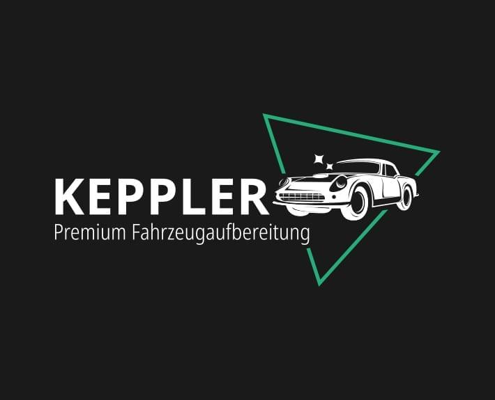 Logo negativ Keppler Premium Fahrzeugaufbereitung