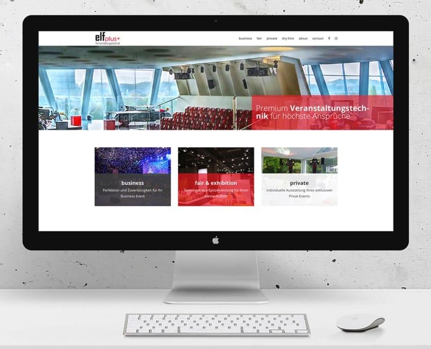 Webdesign Veranstaltungstechnik Elfplus
