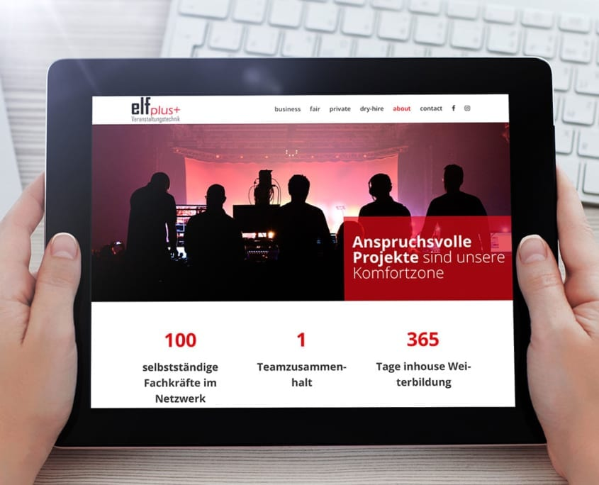 Responsive Design Tablet elfplus