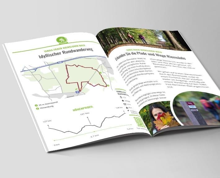 Broschüre Innenseiten Wandern und Radfahren Stadt Melle