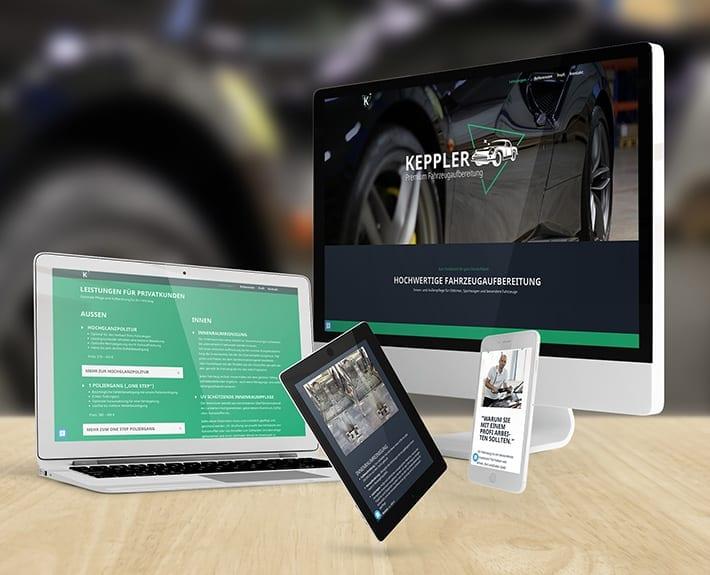 Webseite Responsive Design Keppler Premium Fahrzeugaufbereitung