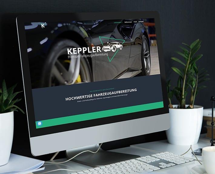 Webseite Keppler Premium Fahrzeugaufbereitung