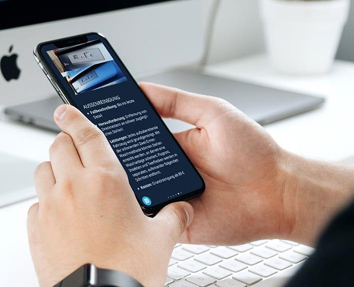 Webseite Mobile Keppler Premium Fahrzeugaufbereitung