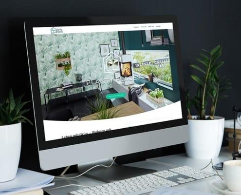 Desktop-Screendesign Planty Places