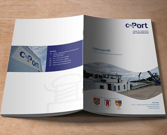 Broschüre Hafenprofil Cover c-Port