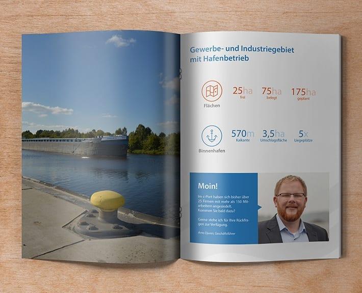Broschüre Standortprofil Innenseiten c-Port