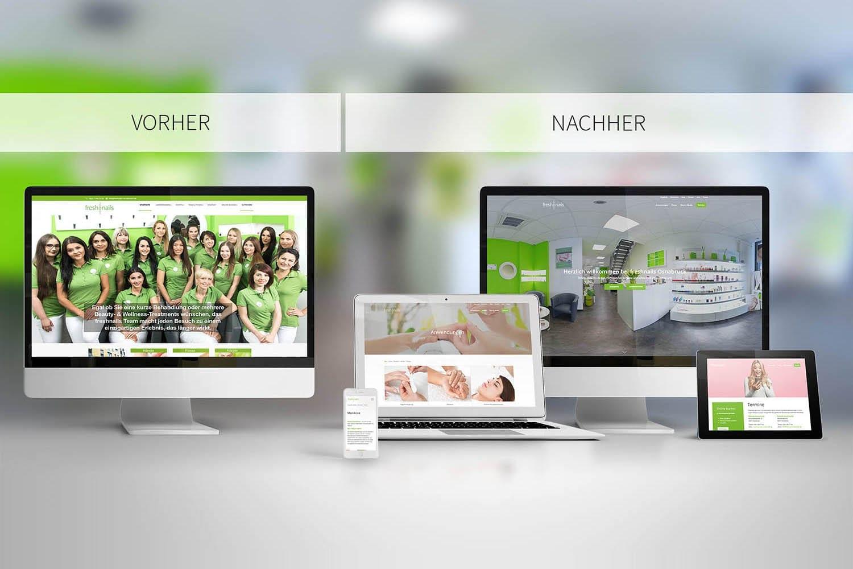 Responsive Webdesign Relaunch Freshnails Osnabrück
