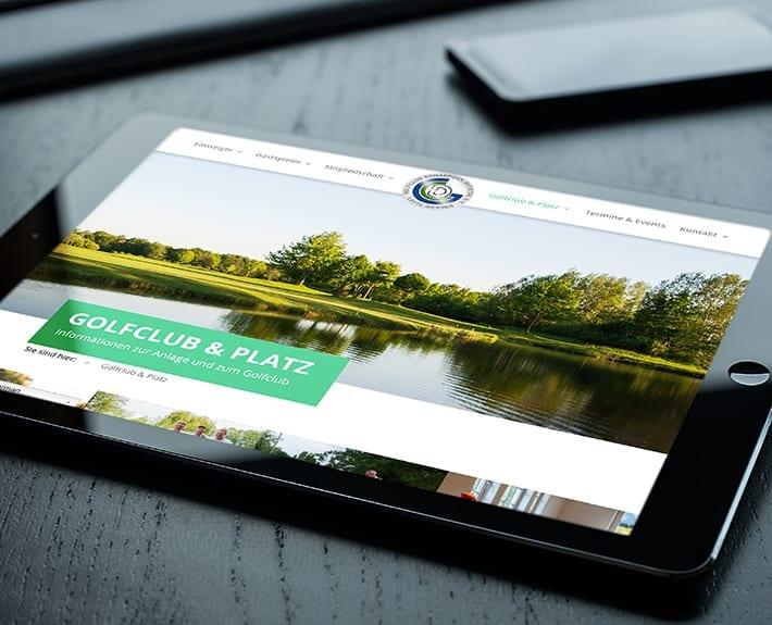 Responsive Webdesign Tablet Golfclub Osnabrück Dütetal