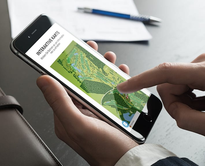 Responsive Webdesign Mobiledevice Golfclub Osnabrück Dütetal