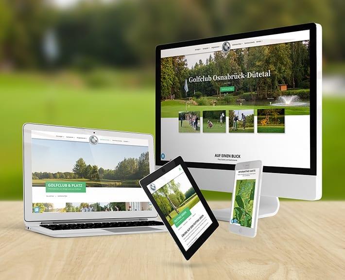Responsive Webdesign Relaunch Golfclub Osnabrück Dütetal