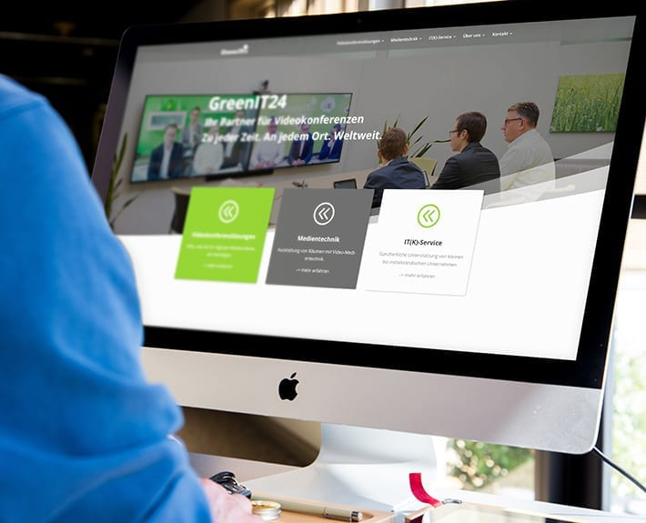 Webseite responsive Design GreenIT
